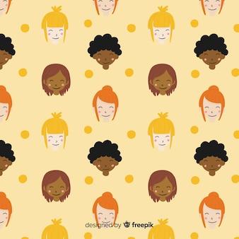 女性パターンの異人種グループ