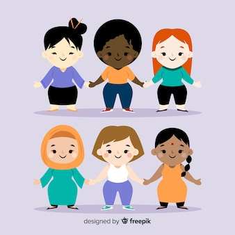 Межрасовая группа женщин