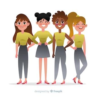 Interracial group of women backgrpund