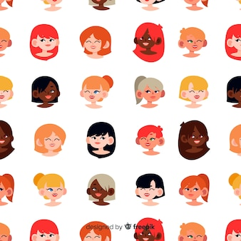 Interracial group of women pattern