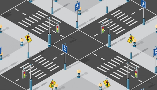Intersection isometric seamless