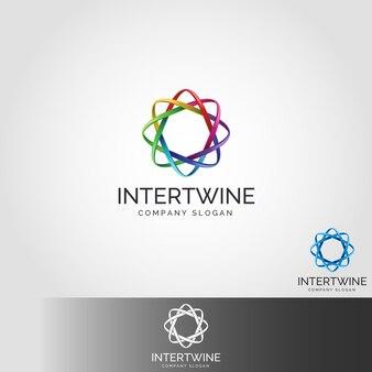 Шаблоны логотипов intertwine