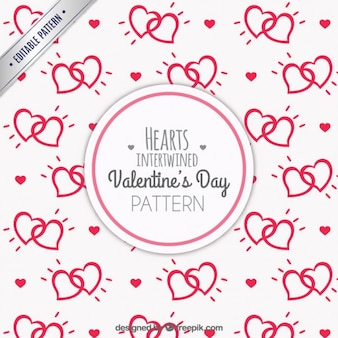 Intertwined hearts pattern