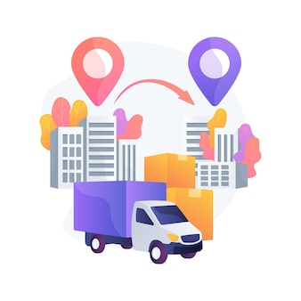 도시 간 마이그레이션 추상 개념 벡터 일러스트입니다. 사람들의 움직임, 인구 조사 대도시 지역, 티켓 구매, 비행기 열차로 여행, 가방 여행 가방을 가진 사람들은 은유를 추상화합니다.