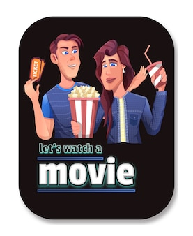 Intimate couples will watch movies and order tickets