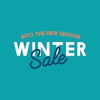 Into the new season winter sale vector