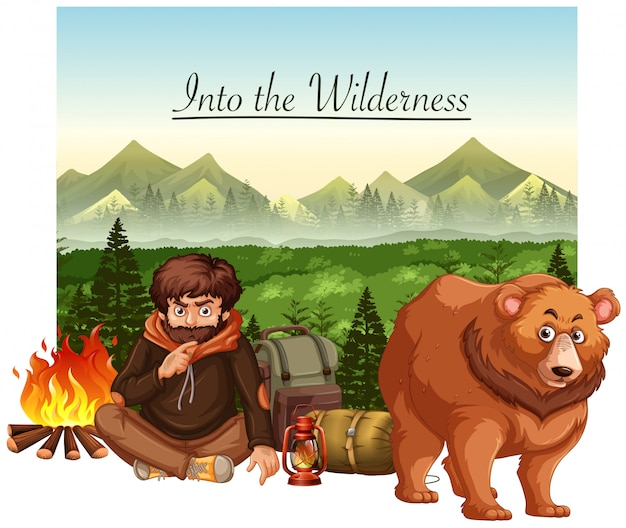 Into the wildernes scene
