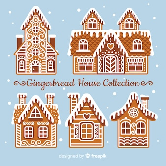 Intrincate gingerbread house collection
