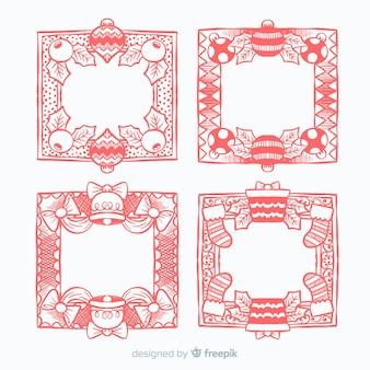 Intrincated christmas frames