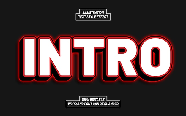 Intro text style effect