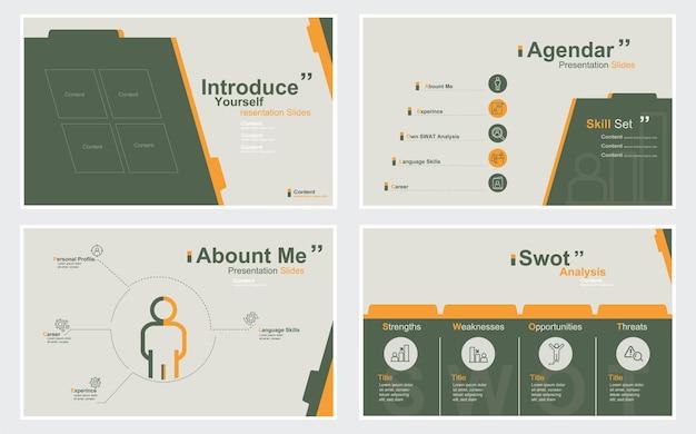 Представьтесь слайд-презентация шаблон стоковой иллюстрации шаблон слайд-шоу презентация