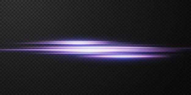 네온 라이트 세트의 효과를 소개합니다. 빛나는 파란색 추상 라인. 투명한 렌즈 플레어 효과에 적합합니다. 밝은 등