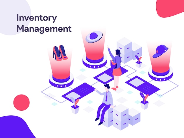 Inventory management isometric illustration