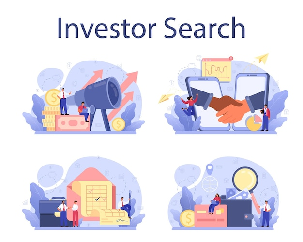 Inverstor search for start up concept set