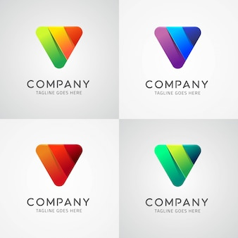 Inverted Triangle Logo Design Template Design