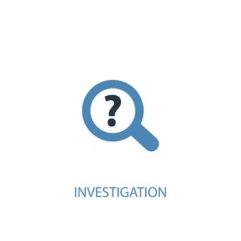 調査コンセプト2色のアイコン。シンプルな青い要素のイラスト。調査コンセプトシンボルデザイン。 webおよびモバイルui / uxに使用できます