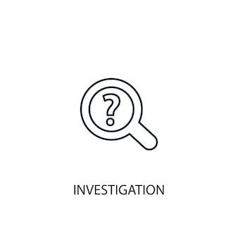 調査コンセプトラインアイコン。シンプルな要素のイラスト。調査コンセプト概要シンボルデザイン。 webおよびモバイルui / uxに使用できます