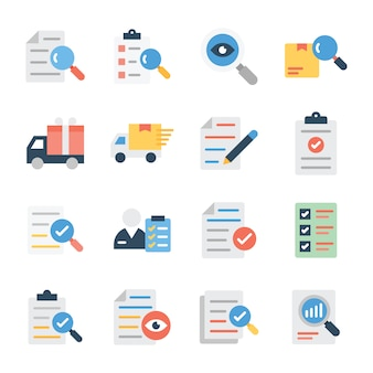 Investigation and delivery flat vectors pack