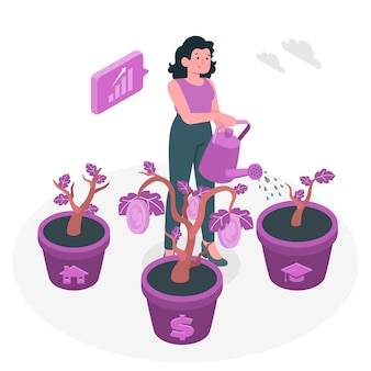 Investing concept illustration