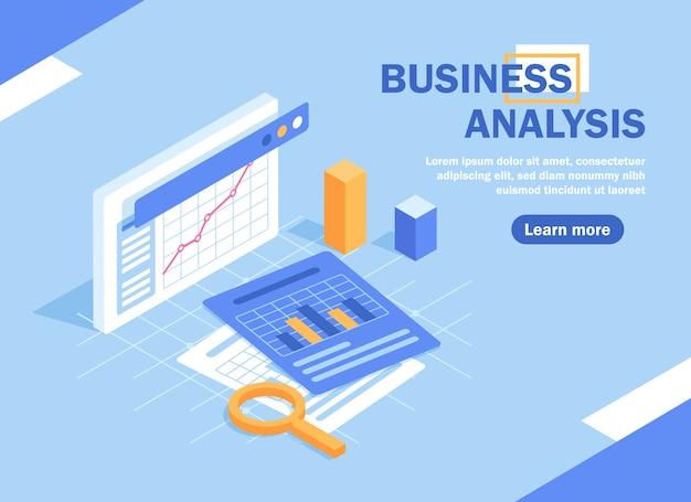 Investment analysis concept banner