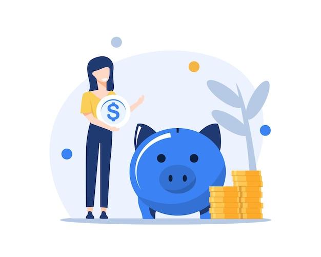 Инвестиции и анализ деньги метафора денежной прибыли сотрудник или менеджер, составляющий планы инвестирования