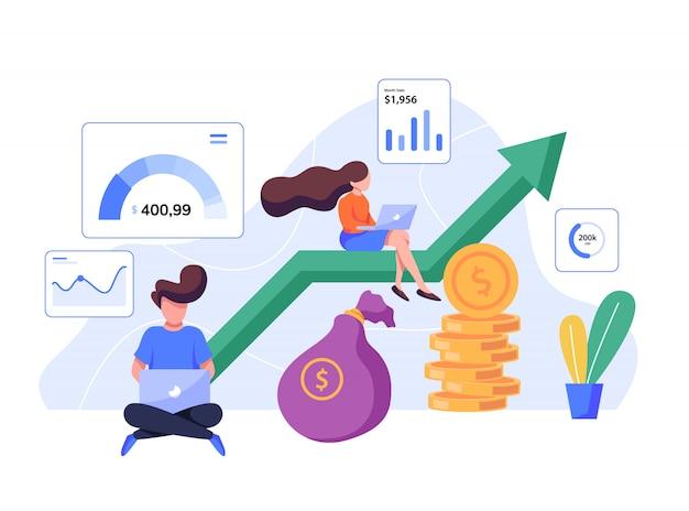 Иллюстрация квартиры инвестиций и финансов