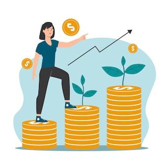 投資と金融の成長の概念