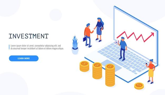 투자 및 가상 금융. 커뮤니케이션 및 현대 마케팅.