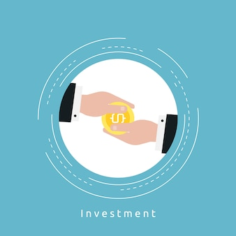 Investment background design