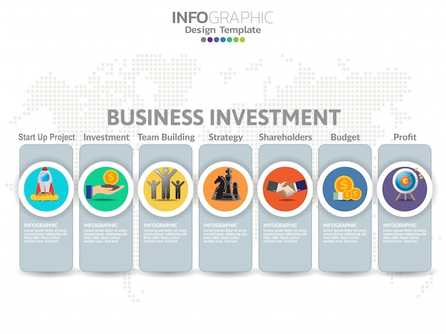 Investment banner for business template