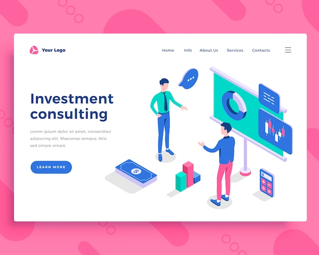 Investment consulting concept