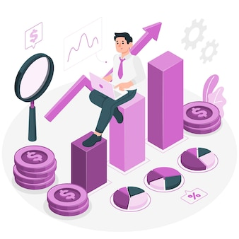 Investment data concept illustration