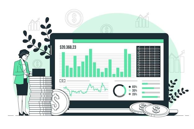 투자 데이터 개념 그림