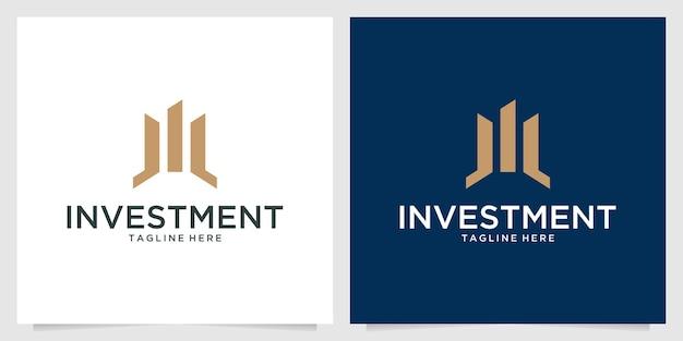 Investment elegant logo design