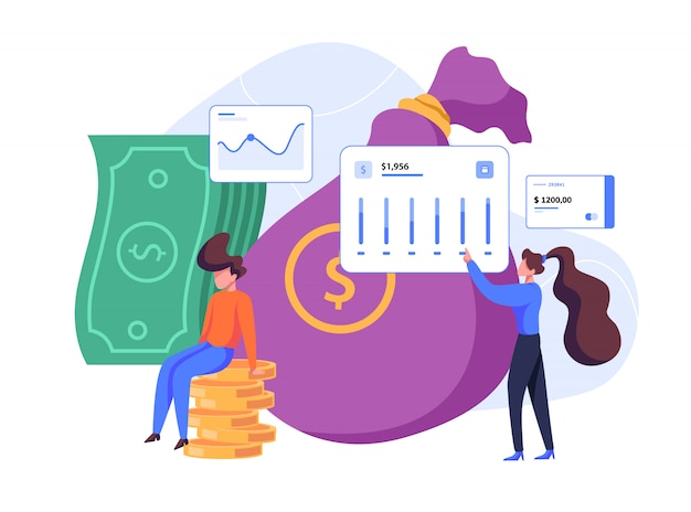 Investment and finance flat illustration