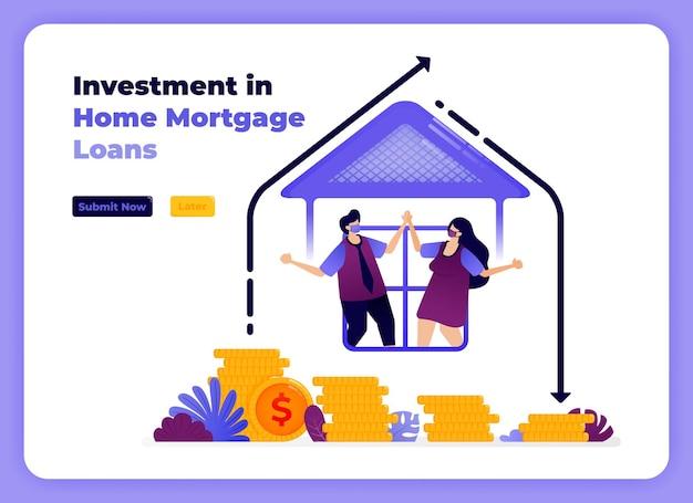 장기 수익률 증가와 함께 가족 주택 융자에 대한 투자.
