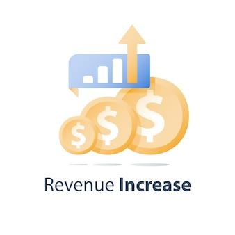 Investment portfolio growth illustration