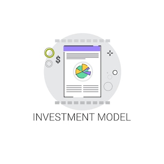 Investment project model business icon vector illustration