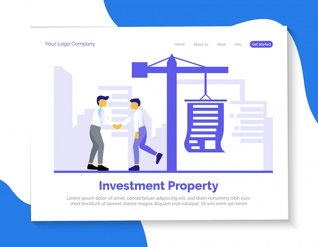 Investment property landing page