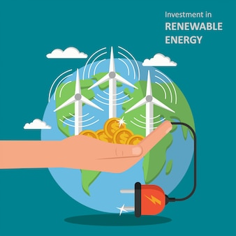 Investment in renewable energy illustration