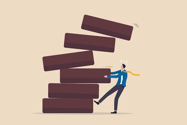 투자 위험, 실패 또는 실수 개념.