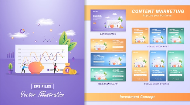 Investment and save concept