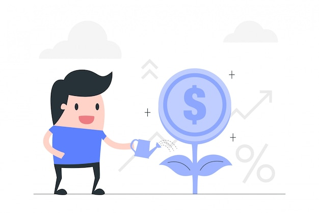 Investment vector concept illustration.