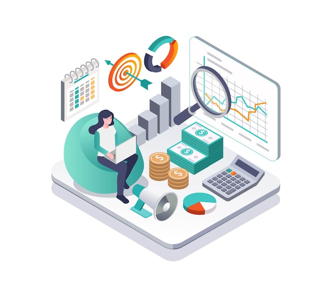 Investors with money and data analyst
