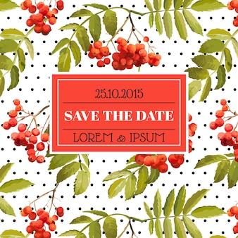 招待状とお祝いカード-結婚式、ベビーシャワー用-秋のデザインテーマ