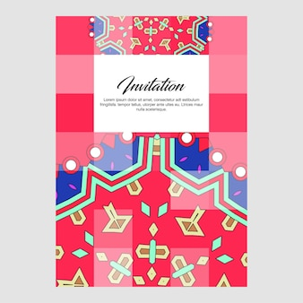 Invitation card creative design