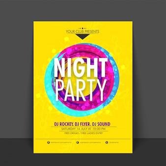 Invitation card disconight music poster occasion