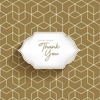 Invitation card template design. geometric pattern and badge