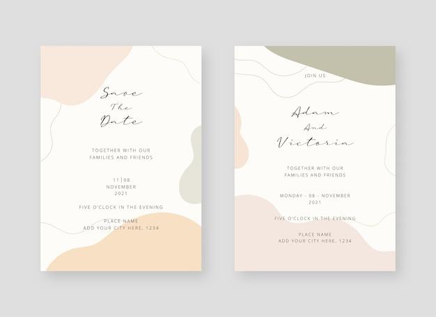 Шаблон пригласительного билета. набор свадебного приглашения карты шаблон дизайна. декоративный дизайн фона.