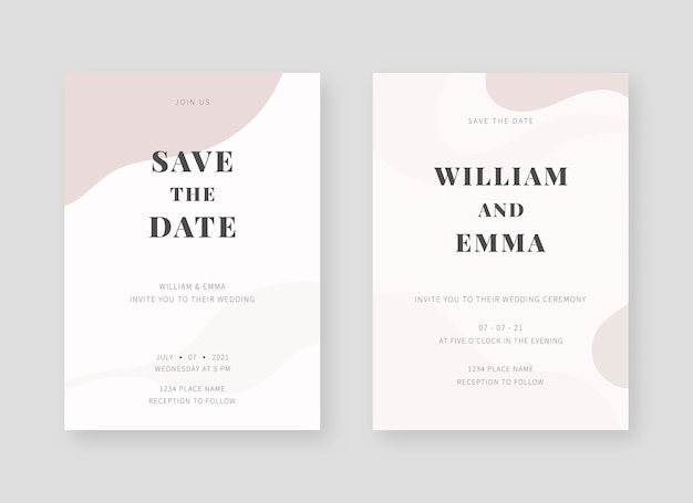 Invitation card template. set of wedding invitation card template design. decorative design background.